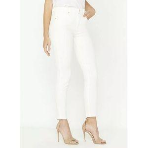 Buffalo white skinny jeans with rhinestones
